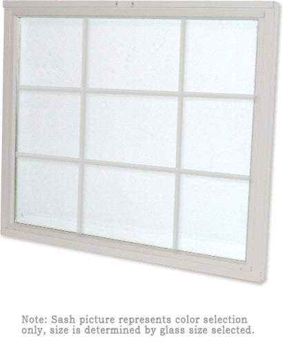 Andersen 244DH3050 200 Series Double Hung Lower Sash with White Exterior and Natural Pine Interior with Low-E High Performance Glass and Finelight Grilles
