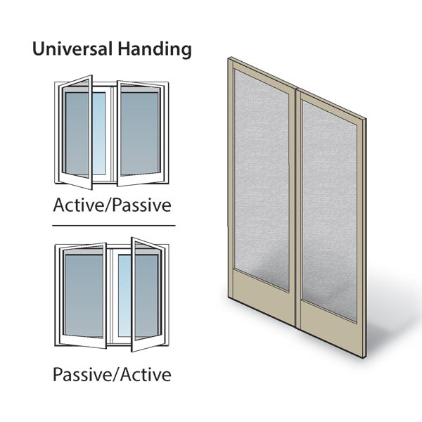 Andersen Frenchwood Hinged Patio Door Double Insect Screen Kit FWH6076 AP in Sandtone