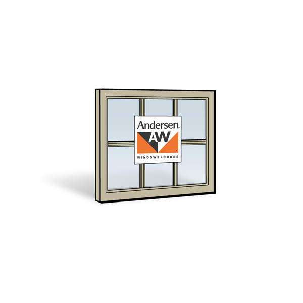 Andersen 24310 Upper Sash with Sandtone Exterior and Sandtone Interior with Dual-Pane Finelight Glass