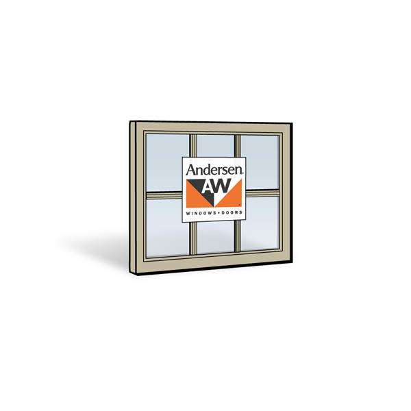 Andersen 2832 Upper Sash with Sandtone Exterior and Sandtone Interior with Dual-Pane Finelight Glass