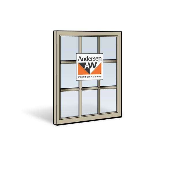 Andersen 2862 Upper Sash with Sandtone Exterior and Sandtone Interior with Dual-Pane Finelight Glass