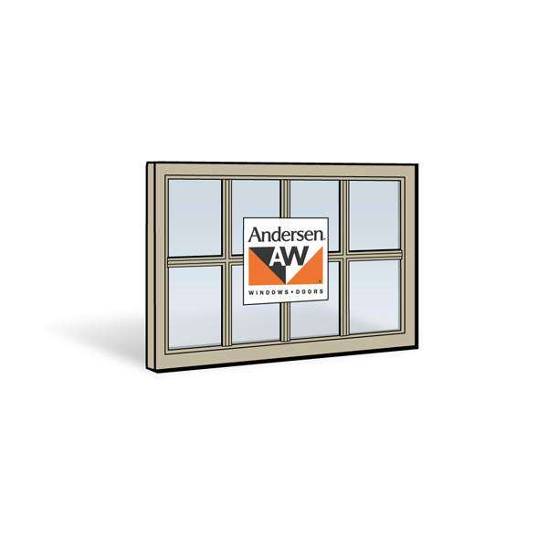 Andersen 3452 Upper Sash with Sandtone Exterior and Sandtone Interior with Dual-Pane Finelight Glass