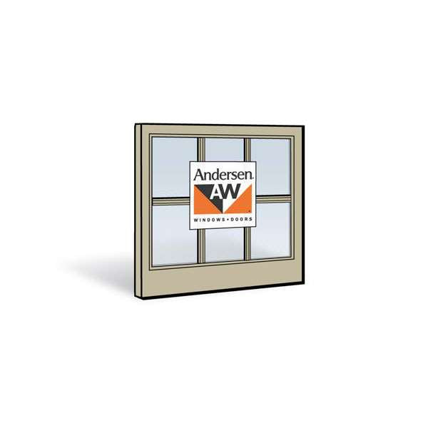 Andersen 2452 Lower Sash with Sandtone Exterior and Sandtone Interior with Dual-Pane Finelight Glass