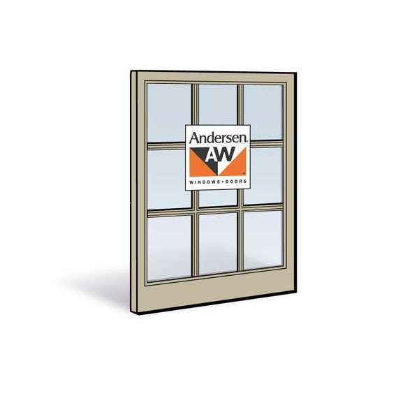 Andersen 2462 Lower Sash with Sandtone Exterior and Sandtone Interior with Dual-Pane Finelight Glass
