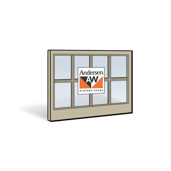 Andersen 3442 Lower Sash with Sandtone Exterior and Sandtone Interior with Dual-Pane Finelight Glass