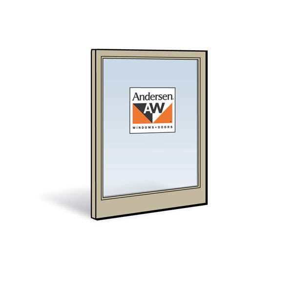 Andersen 2462 Lower Sash with Sandtone Exterior and Natural Pine Interior with Low-E4 Glass