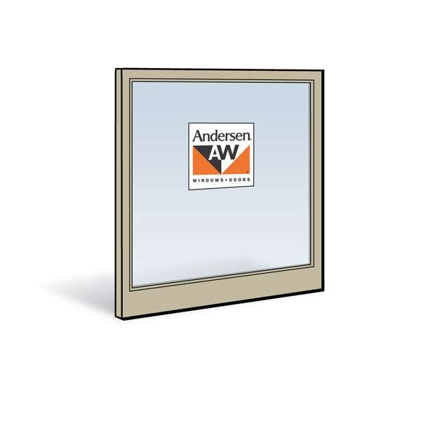 Andersen 3032 Lower Sash with Sandtone Exterior and Natural Pine Interior with Low-E4 Glass
