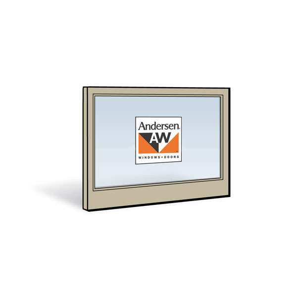 Andersen 3046 Lower Sash with Sandtone Exterior and Natural Pine Interior with Low-E4 Glass