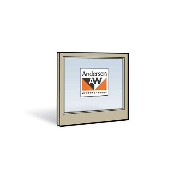 Andersen 2452 Lower Sash with Sandtone Exterior and Natural Pine Interior with Low-E4 Tempered Glass
