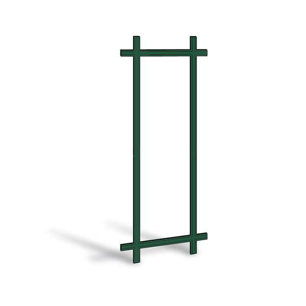 "Andersen 2680 Frenchwood Gliding Door Prairie Grille 7/8"" Forest Green Exterior with Oak Interior"