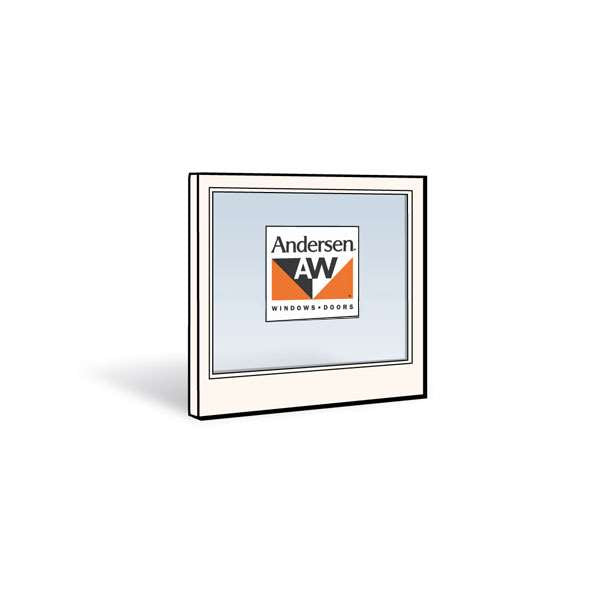 Andersen 2432 Lower Sash with White Exterior and Natural Pine Interior with Low-E4 Tempered Glass