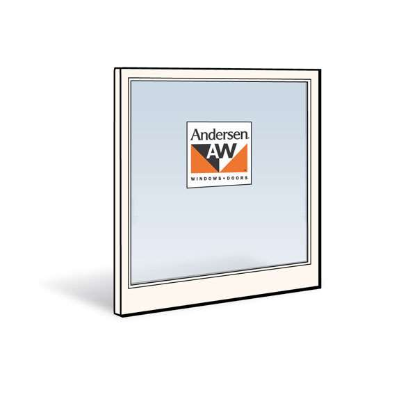 Andersen 3856C Lower Sash with White Exterior and White Interior with Dual-Pane 3/8 Glass