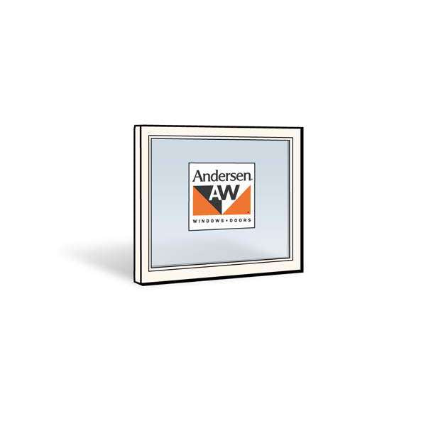 Andersen 2442 Upper Sash with White Exterior and Natural Pine Interior with Low-E4 Sun Glass