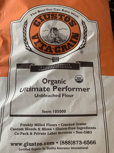 GIUSTO'S Organic High Performer High Protein Unbleached Bread Flour (3 and 5 lb)