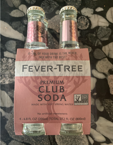 FEVER-TREE Club Soda - 4 pack of 6.8 oz (local delivery only)