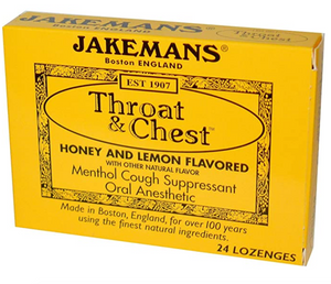 Jakemans, Throat and Chest Honey Lemon Flavored Lozenges 24 count