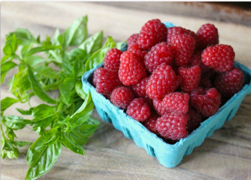Raspberry Basil Wine Vinegar