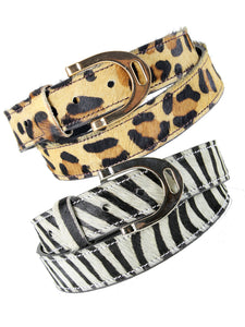 Ladies Animal Print Belt