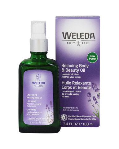 The Weleda Lavender Relaxing Body and Beauty Oil soothes the senses and the skin, and helps unwind tension. Extracts of transitional organic Lavender mixes with organic sesame oil and sweet almond oil, helping you to prepare for a peaceful night's sleep.