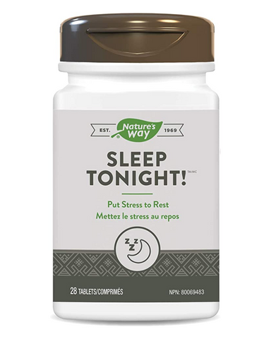 Nature's Way Sleep Tonight is a unique combination of herbal ingredients that helps reduce the symptoms of stress such as fatigue, sleeplessness, irritability and inability to concentrate. It helps reduce cortisol and C-reactive protein levels, the biomarkers of physical stress. Nature's Way Sleep Tonight is Vegetarian.