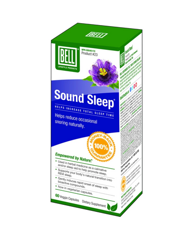 Sound Sleep is a natural sleep aid that blends the natural sleep-inducing powers of melatonin with MSM. This calming supplement gently eases away tension and stress from the center of the brain.