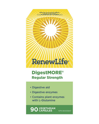 DigestMORE is a plant based digestive enzyme formula designed for digestive problems that are mild to moderate in severity or do not occur everyday. It is also useful for digestive problems that occur with a specific type of food or quantity of food.