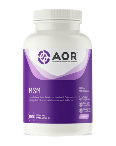 MSM is primarily used to reduce the symptoms of knee pain and reduced physical function in osteoarthritis due to its anti-inflammatory and connective tissue supporting activities. It may also help reduce muscle pain and cramps due to its ability to reduce lactic acid production. MSM is also useful for ameliorating the symptoms of seasonal and other types of allergies.