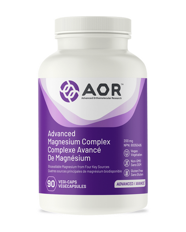 Magnesium is required for over 300 different biochemical reactions in the body. Advanced Magnesium Complex® is a highly bioavailable formula that combines four sources of magnesium into one comprehensive supplement to ensure the body's magnesium needs are met. This formula includes Magnesium Aspartate, Magnesium Ascorbate, Magnesium Malate and Magnesium Glycinate. They are most easily metabolized by various systems in the body, and each form provides more benefits than just magnesium alone.
