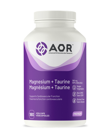 Magnesium Taurine is an advanced formula for improving overall cardiovascular health.  Taurine and magnesium have both been shown to improve cardiac health, improve insulin sensitivity, and inhibit neuromuscular excitability. They both share similar actions including anti-arrhythmic, antihypertensive and cardio-protective effects. Both magnesium and taurine appear to balance calcium levels in the heart, thus influencing contractility and protecting the heart against potential difficulties caused by an overl