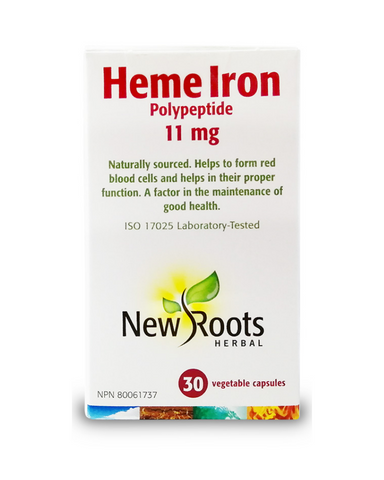 Highly bioavailable HemeIron is isolated from animal sources for maximum intestinal absorption. It's the particular type of iron that is easily recognized and exploited by the body to form the structural scaffolding for hemoglobin.