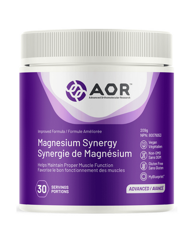Magnesium Synergy is specially formulated to promote optimal absorption of magnesium into the cell, where it is needed the most, without negative side effects at therapeutic doses. This formulation helps in energy metabolism and tissue and connective tissue formation and provides electrolytes for the maintenance of good health while providing support for healthy glucose metabolism and the maintenance of healthy skin and immune function.