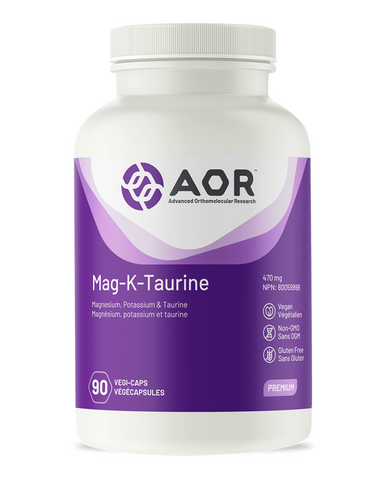 Magnesium and potassium are electrolyte minerals that have many important functions, including maintaining the activity of nerves and muscles, regulating water retention and supporting a healthy acid-base balance. Studies suggest that 50-90% of the population is deficient in magnesium, and deficiencies in potassium often occur along with magnesium deficiencies since the minerals are closely related in function. Taurine is the most abundant free amino acid within the heart muscle and shares many of the same