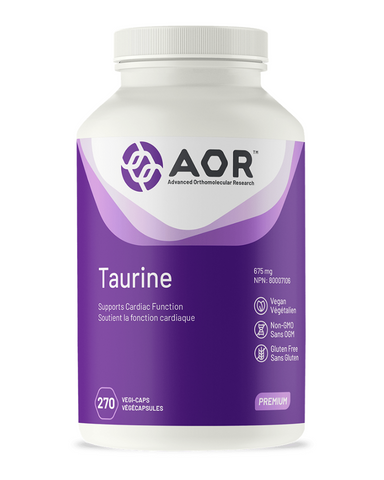 "Taurine is the second most common amino acid found in the body, and has many different health benefits due to its ability to help stabilize cell membranes. The most recent population studies have referred to taurine as a ""wonder molecule"" responsible for the longevity benefits of the Japanese. Taurine is the most abundant amino acid in the heart, and is important for several aspects of cardiovascular function, including blood pressure and heart rhythm. Taurine is often used to improve exercise performance d"