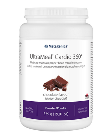 UltraMeal® Cardio 360° is a medical food formulated to provide specialized nutritional support within a nutritional management program for dyslipidemia by supplying a combination of phytosterols, bioavailable xanthohumol from hops (XNT ProMatrix®), beneficial macronutrient profile, 5 g of prebiotic isomalto-oligosaccharides, antioxidant nutrients (vitamins C and E), and a proprietary pea/rice protein base with added amino acids.