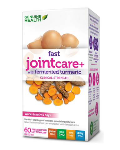 Introducing NEW fast jointcare+ with fermented turmeric: Made with the synergistic combination of Biovaflex® natural eggshell membrane and fermented organic turmeric, to naturally reduce inflammation and pain:
