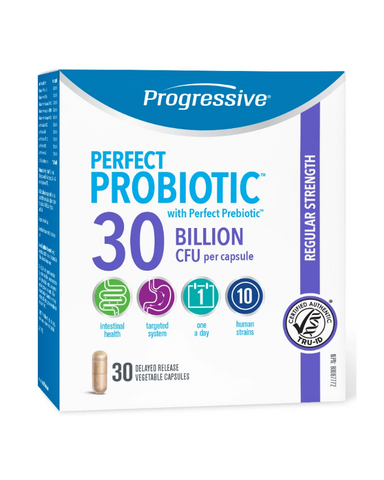Perfect Probiotic™ 30 Billion is a daily maintenance probiotic for better intestinal function, immunity, digestion and overall good health.