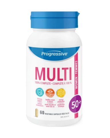 Progressive MultiVitamins for Women 50+ addresses the needs of an aging body and helps you stay youthful and remain active with the ones you love.