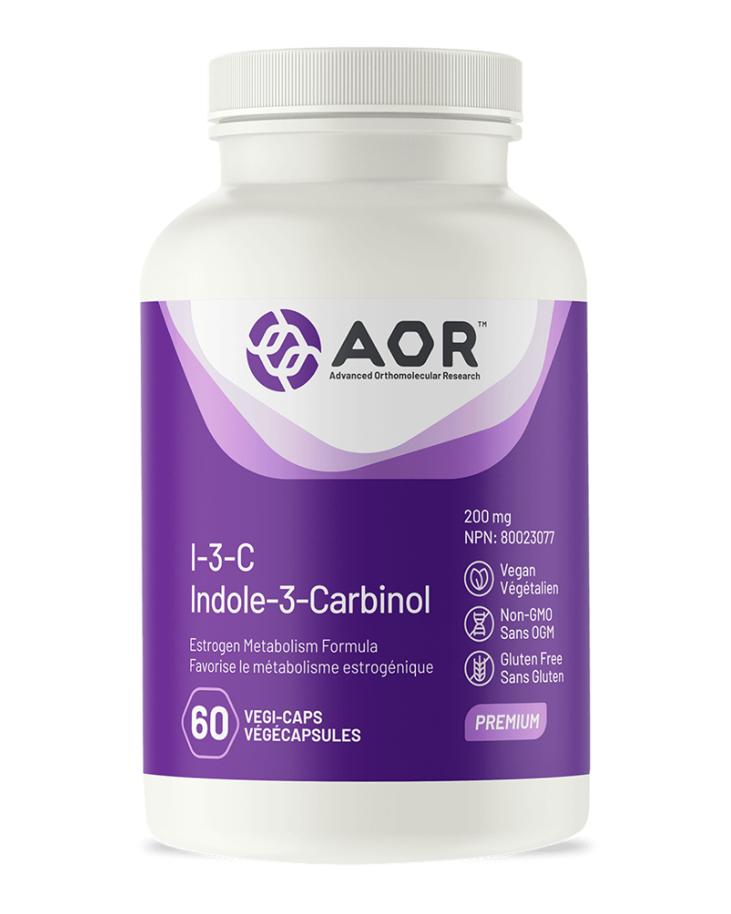 "Indole-3-carbinol (I-3-C) is a phytonutrient found in Brassica vegetables such as broccoli, kale and cabbage, and is one of the key health-promoting compounds in these foods. Many studies have had phenomenal success using I-3-C to shift the balance of metabolic enzymes that process estrogens thereby reducing the formation of ""bad"" estrogens and increasing the formation of ""good"" estrogens."