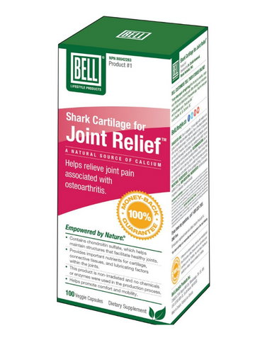 "Joint Relief is a natural joint support supplement. It contains active, bioavailable nutrients to support cartilage and optimize healthy joints. The product is largely made up of shark cartilage with naturally-occurring chondroitin sulfate and glucosamine sulfate, which help support and maintain structures that facilitate healthy joints.* Glucosamine and chondroitin are ""raw material"" nutrients for cartilage, connective tissues and lubricating factors within the joints. These natural compounds support the p"