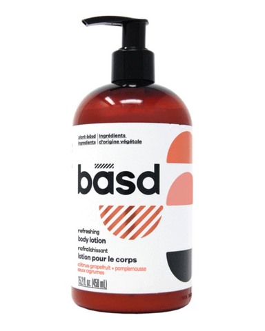 This plant-basd lotion, made with organic aloe vera juice and organic coconut oil, is all kinds of luxurious. It's perfect for everyday moisturizing, so your skin will always feel nourished. Plus we know basd babes will love this refreshing citrus grapefruit scent. The scent is bright and fresh—perfect for whatever comes your way.