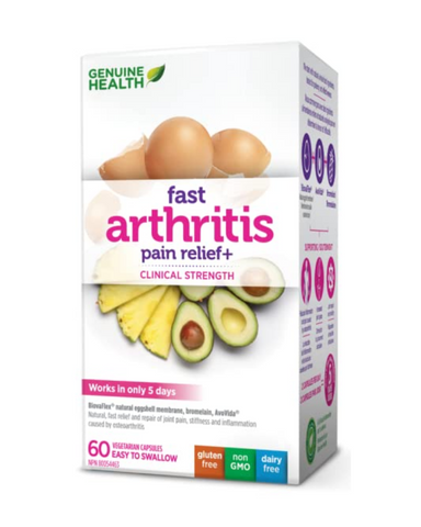 Made with the robust combination of Natural Eggshell Membrane, AvoVida and Bromelain, Fast Arthritis Relief+ is the fastest, most effective way to reduce the pain and inflammation of osteoarthritis, while also rebuilding the cartilage and joint space lost to its damaging effects.