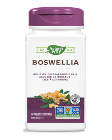 Boswellia extract is standardized to 65% boswellic acids, with the researched clinical dose used to support joint health and mobility.
