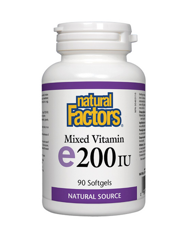 Natural Factors Mixed Vitamin E offers naturally sourced vitamin E (d-alpha-tocopherol) with mixed tocopherols beta, delta, and gamma for greater benefits. Vitamin E is a powerful antioxidant that offers protection from free radicals and helps in the maintenance of good health.