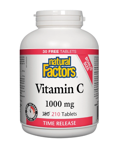 In addition to vitamin C's powerful antioxidant and infection-fighting properties, this product contains 200 mgs of added bioflavonoids and is presented in a time-release form as vitamin C can not be stored in the body.