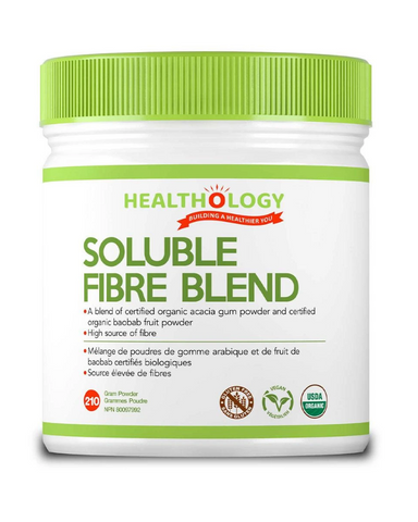 Soluble Fibre Blend provides a Certified Organic, non-GMO blend of Baobab and Acacia fibres that help to manage weight, lower cholesterol, reduce heart disease risk, and promote healthy digestion. It does not contain artificial sweeteners, colours, sugars, or additives, and is less likely to cause constipation than psyllium-containing formulas.High source of fibre It provides a Certified Organic non-GMO blend Helps to manage weight Helps lower cholesterol, reduce heart disease risk Promote healthy digestion