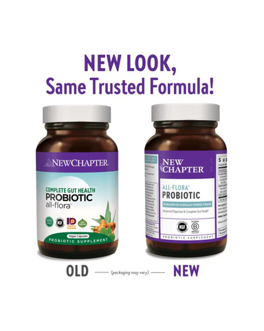 New Chapter Probiotic All-Flora Complete Gut Health helps support Intestinal and Gastrointestinal Health Could promote favourable gut flora.