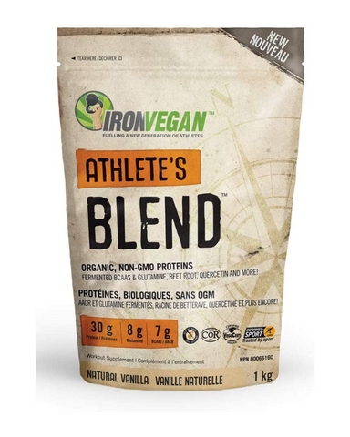 ATHLETE'S BLENDTM was designed with the most ingredient conscious athlete in mind. Each serving provides 30 grams of organic, non-GMO plant based protein which supplies a complete range of essential amino acids and helps to build and repair body tissues.