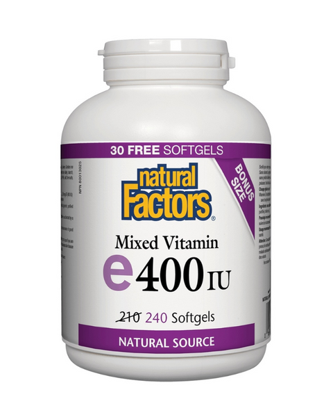 Natural Factors Mixed Vitamin E offers naturally sourced vitamin E (d-alpha-tocopherol) with mixed tocopherols beta, delta, and gamma for greater benefits. Vitamin E is a powerful antioxidant that offers protection from free radicals and helps in the maintenance of good health