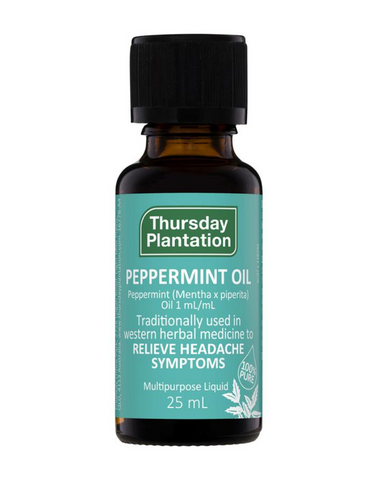 Peppermint oil has been used as an herbal medicine topically to relieve headaches and through ingestion to relieve nausea, digestive spasm, indigestion, and flatulence, muscle aches and joint pains. It is also used in inhalation to relieve cold and flu symptoms, ease stress and to calm the nerves.