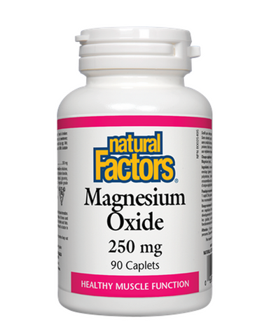 Natural Factors Magnesium Oxide is a factor in the maintenance of good health. Important for the prevention of magnesium deficiency, this supplement helps the body metabolize carbohydrates, proteins and fats, and helps in the development and maintenance of healthy bones and teeth.